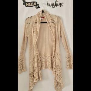 Sweaters - Open Knit Waterfall Sweater Kimono